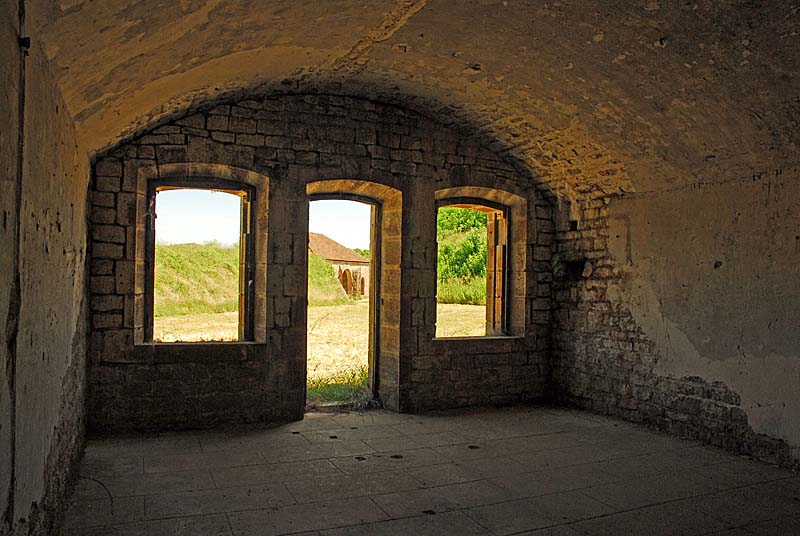 Fort de la Bonnelle : casemate du bâtiment des officiers