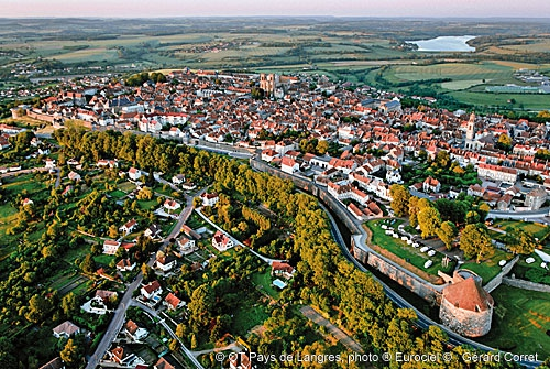 Langres, fortified city